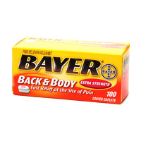 Bayer Aspirin Best Pain Relief
